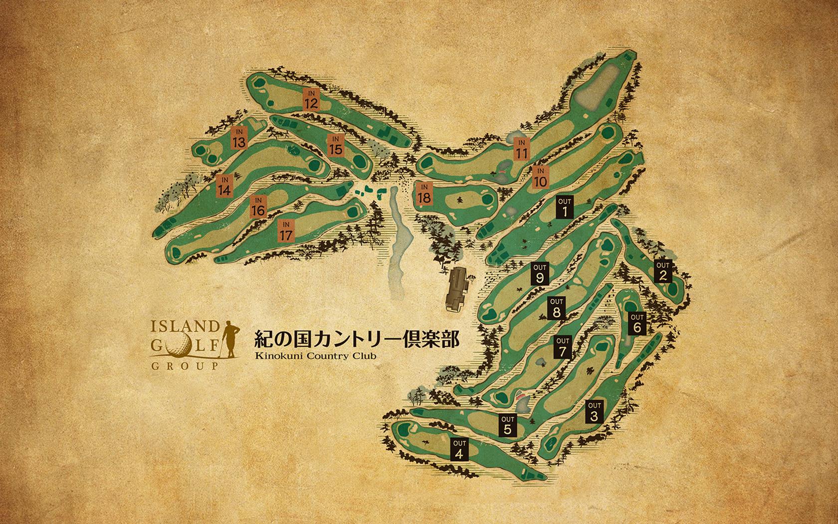 紀の国カントリーコースマップ